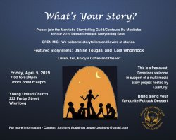 What's Your Story? Manitoba Storytelling Guild Event