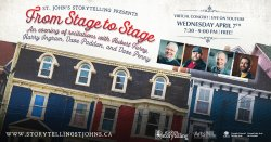 St. John's Storytelling Presents: From Stage to Stage! April 7th, 7:30pm NST