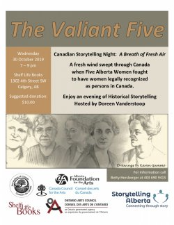 Canadian Storytelling Night in Calgary: The Valiant Five