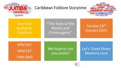 Caribbean Folklore Storytime is back on January 24