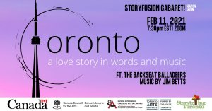 StoryFusion Cabaret presents: Toronto, a love story in words and music