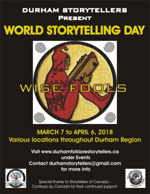 DURHAM STORYTELLERS PRESENT 'WISE FOOLS' FOR WORLD STORYTELLING DAY 2018.