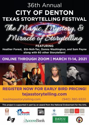 Texas Storytelling Festival- March 11-14, 2021