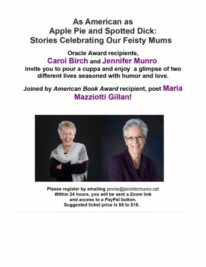 As American as Apple Pie and Spotted Dick: Stories Celebrating Our Feisty Mums  (Jennifer Munro Online Concert)