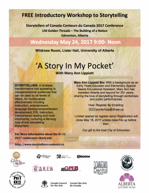FREE Introductory Workshopto Storytelling at Conference 2017!