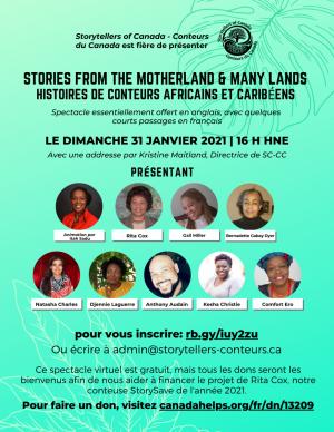 Histoires de conteurs Africains et Caribéens - 31 Janvier